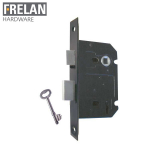 Frelan Hardware Black 3 Lever Sashlock 65mm