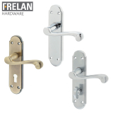 Frelan Hardware Marlow Suite Door Lever Handle on Plate