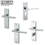 Frelan Hardware Delta Internal Door Handle Pair Lever on Plate