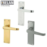 Frelan Hardware Victorian Suite Straight Internal Door Handle Pair Long Lever on Plate