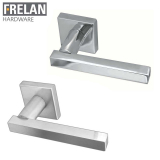 Frelan Hardware Kubus Internal Door Handle Pair Lever on Square Rose