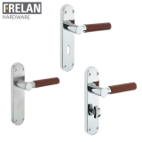 Frelan Hardware Ascot Suite Door Lever Handle on Plate