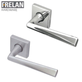 Frelan Hardware Rombo Internal Door Handle Pair Lever on Square Rose