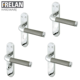 Frelan Hardware Twin Internal Door Handle Pair Lever on Rose