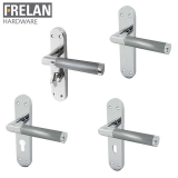 Frelan Hardware Mitred Suite Internal Door Handle Pair Lever on Plate