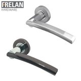 Frelan Hardware Modena Internal Door Handle Pair Lever on Rose