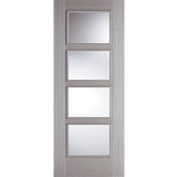 LPD Internal Light Grey Vancouver Pre-finished 4 Glazed Fire Door