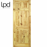 LPD Internal Knotty Pine 6 Panelled Wood Grain Door