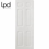 LPD Internal White Primed Smooth 6 Panelled Square top Door