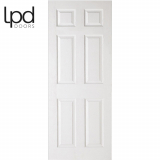 LPD Internal White Primed 6 Panelled Textured Door