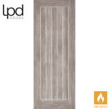 LPD Internal Light Grey Laminate Mexicano Flush Fire Door