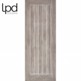 LPD Internal Light Grey Laminate Mexicano Flush Glazed Door