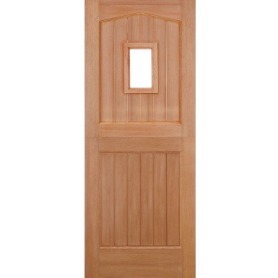 LPD External Hardwood 1 LIGHT Unglazed Stable Door D&G