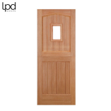 External Hardwood 1 LIGHT Unglazed Stable Door D&G