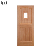 External Hardwood 1 LIGHT Unglazed Stable Door M&T