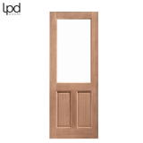 External Hardwood 2XG 2 Panel Unglazed Door M&T