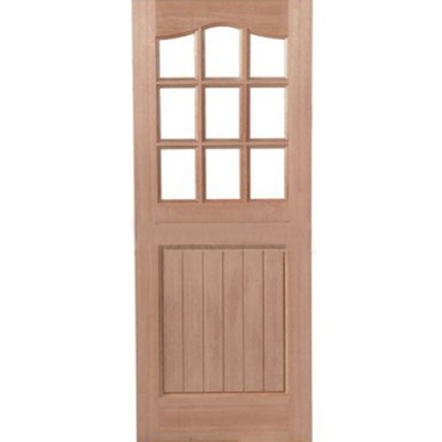 LPD External Hardwood 9 LIGHT Unglazed Stable Door D&G