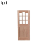 External Hardwood 9 LIGHT Unglazed Stable Door D&G