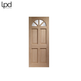 External Hardwood CAROLINA 4 Panel Fanlight Unglazed Door M&T
