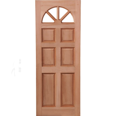 LPD External Hardwood CAROLINA 6 Panel Fanlight Unglazed Door D&G