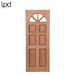 External Hardwood CAROLINA 6 Panel Fanlight Unglazed Door D&G