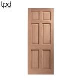 External Hardwood COLONIAL Traditional 6 Panel Door D&G