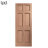 External Hardwood COLONIAL Traditional 6 Panel Door M&T