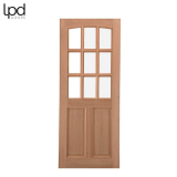 External Oak COTTAGE 6 Light Clear Double Glazed Door D&G