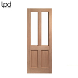 External Hardwood MALTON Victorian Style Unglazed Door M&T