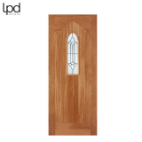 External Hardwood WESTMINSTER Arch Top Light Lead Double Glazed Door M&T