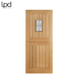 External Oak COTTAGE 1 Light Lead Double Glazed Stable Door D&G