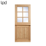 External Oak COTTAGE 6 Light Clear Double Glazed Stable Door D&G