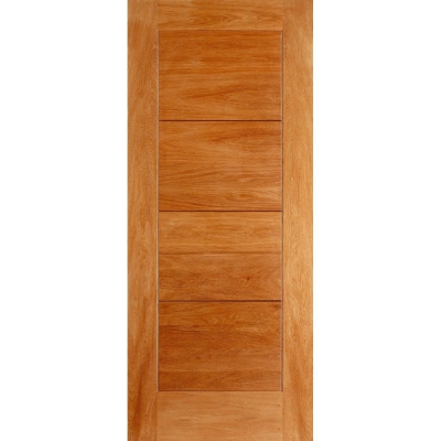 LPD External Oak MODICA Contemporary Grooved Flush Door D&G