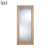 External Oak PATTERN 10 Warmer Part L Clear Double Glazed Door D&G