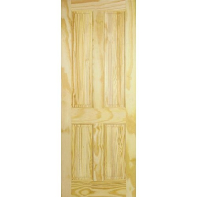 LPD Internal Clear Pine 4 PANEL Traditional Door