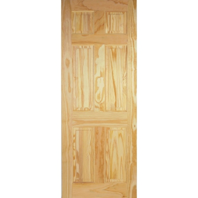 LPD Internal Clear Pine 6 PANEL Traditional Fire Door FD30