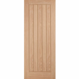 LPD Internal Oak BELIZE Boarded Style Flush Fire Door FD30