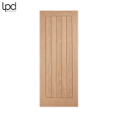 Internal Oak BELIZE Boarded Style Flush Door