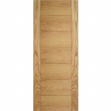 LPD Internal Oak CARINI Horizontal Line Flush Fire Door FD30