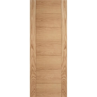 LPD Internal Oak CARINI Pre-Finished Horizontal Line Flush Fire Door FD30