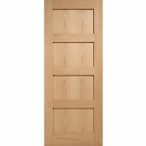 LPD Internal Oak CONTEMPORARY 4 Panel Fire Door FD30