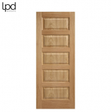 Internal Oak CONTEMPORARY Pre-Finished 5 Panel Door