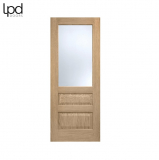 Internal Oak CONTEMPORARY Pre-Finished Frosted Glazed Door