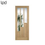 Internal Oak COVENTRY Contemporary 3 Light Clear Glazed Door