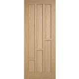 LPD Internal Oak COVENTRY Contemporary 6 Panel Fire Door FD30