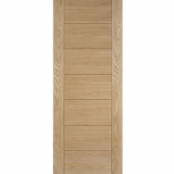 LPD Internal Oak HAMPSHIRE Pre-Finished Ladder Style Flush Fire Door FD30