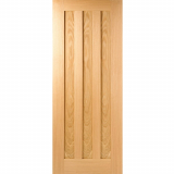 LPD Internal Oak IDAHO Pre-Finished Contemporary 3 Panel Fire Door FD30
