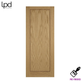 Internal Oak INLAY Pre-Finished 1 Panel Flush Door