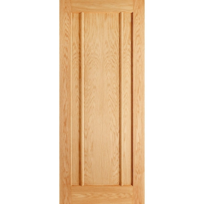 LPD Internal Oak LINCOLN Contemporary 3 Panel Fire Door FD30