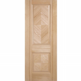 LPD Internal Oak MADRID Pre-Finished 2 Panel Fire Door FD30